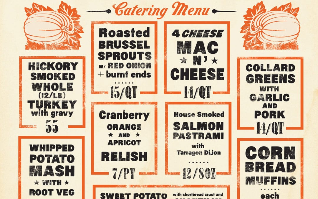 Thanksgiving Catering Menu Here!