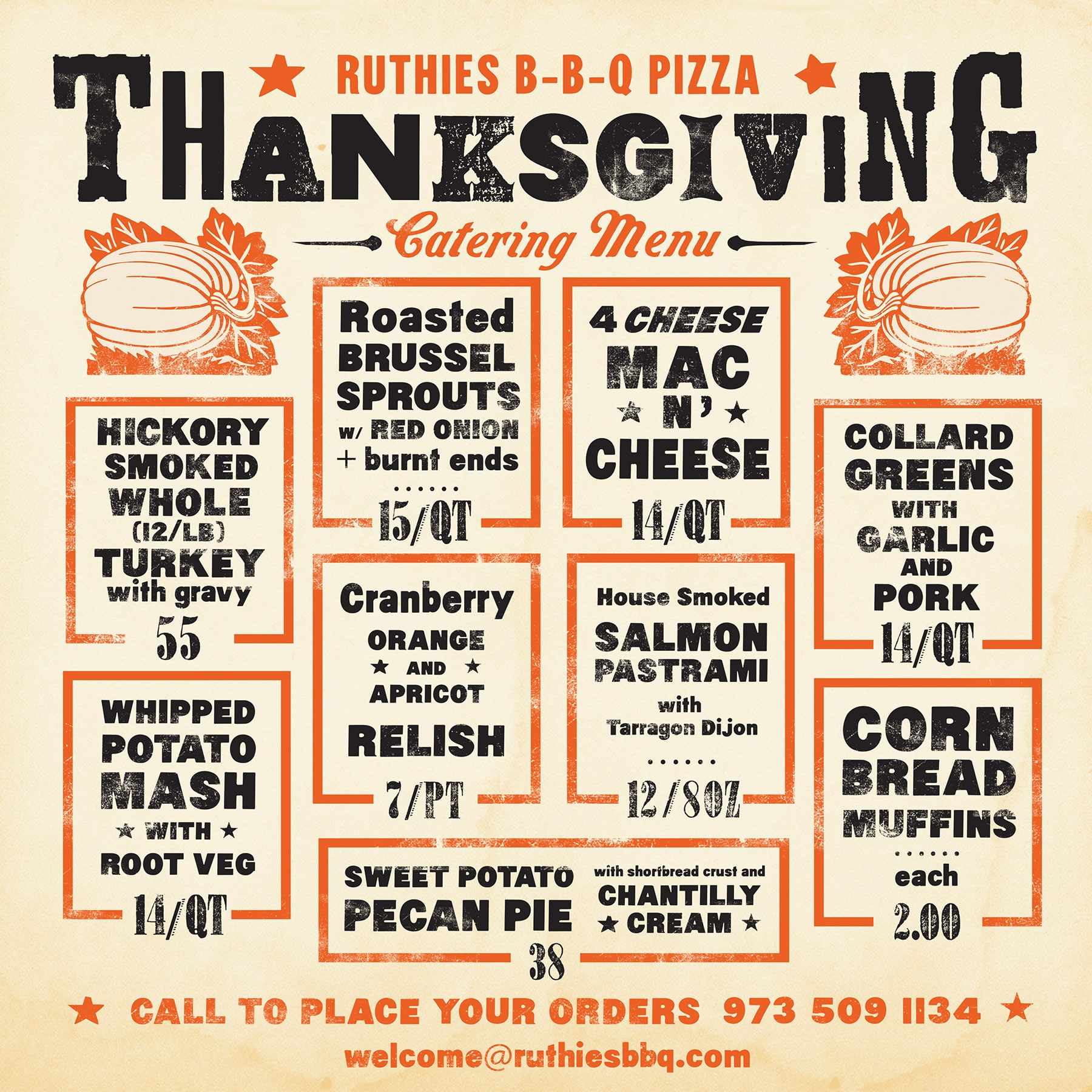 montclair nj thanksgiving catering menu